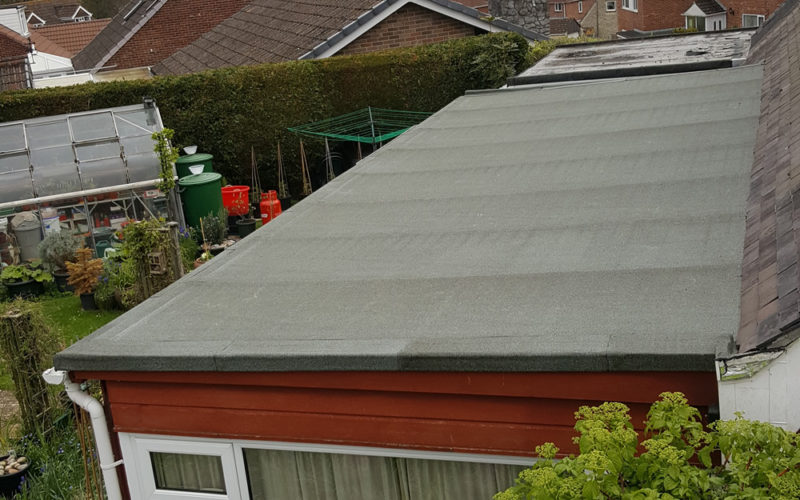 Felt Roofing on top of a conservatory
